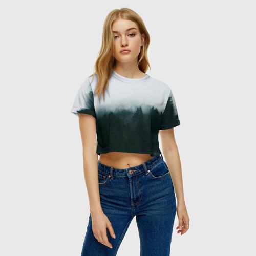 Женская футболка Cropp-top Лес Фото 01