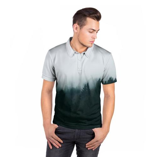 Мужская рубашка поло 3D  Фото 05, Лес