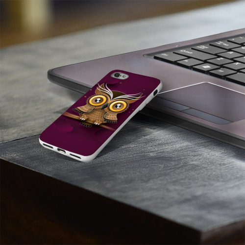 Чехол для Apple iPhone 8 силиконовый глянцевый  Фото 03, Сова
