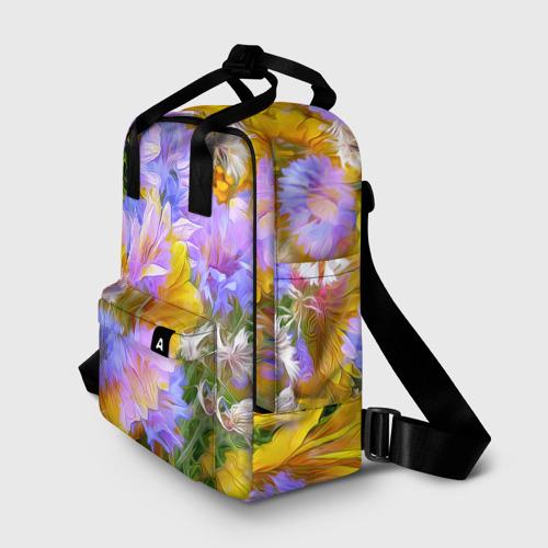 Женский рюкзак 3D Живописные цветы 1 Фото 01