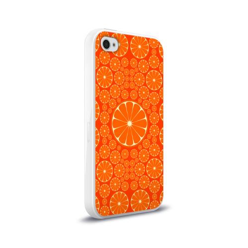 Чехол для Apple iPhone 4/4S силиконовый глянцевый  Фото 02, Апельсины