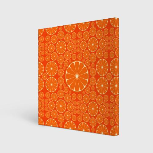 Холст квадратный  Фото 01, Апельсины