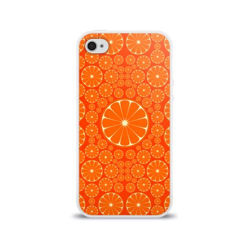 Чехол для Apple iPhone 4/4S силиконовый глянцевый  Фото 01, Апельсины