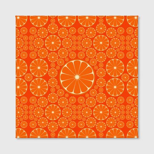 Холст квадратный  Фото 02, Апельсины