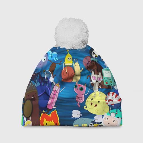 Шапка 3D c помпоном  Фото 01, Adventure Time 1