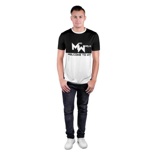 Мужская футболка 3D спортивная Безумный мир Фото 01