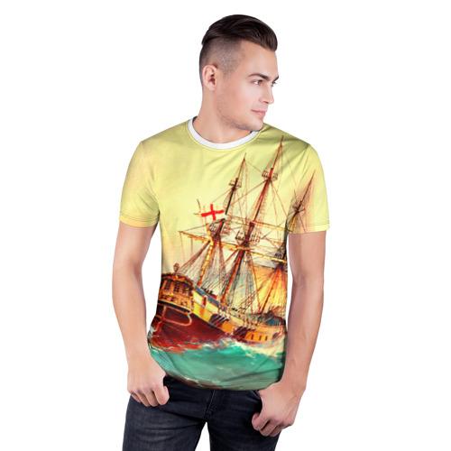 Мужская футболка 3D спортивная  Фото 03, Парусник