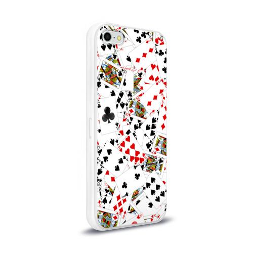 Чехол для Apple iPhone 5/5S силиконовый глянцевый  Фото 02, Игральные карты