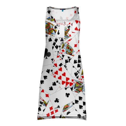 Платье-майка 3D Игральные карты