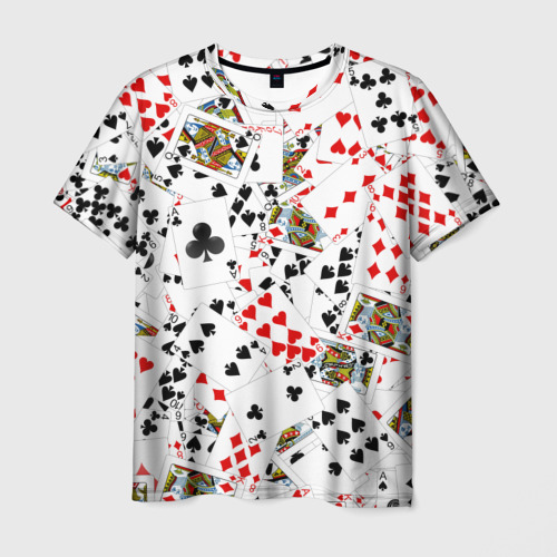Мужская футболка 3D  Фото 01, Игральные карты