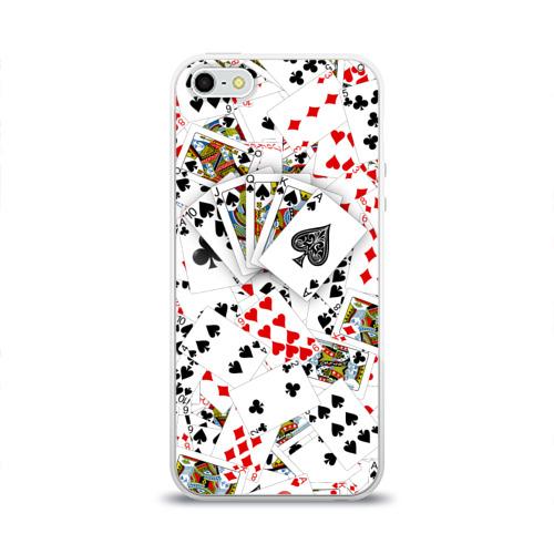 Чехол для Apple iPhone 5/5S силиконовый глянцевый  Фото 01, Роял-флеш