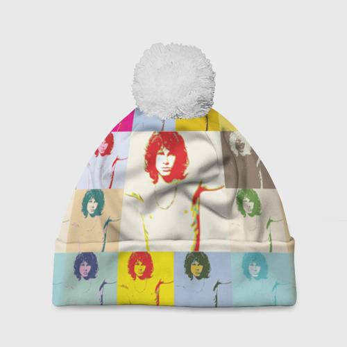 Шапка 3D c помпоном  Фото 01, Pop Art Jim Morrison The Doors