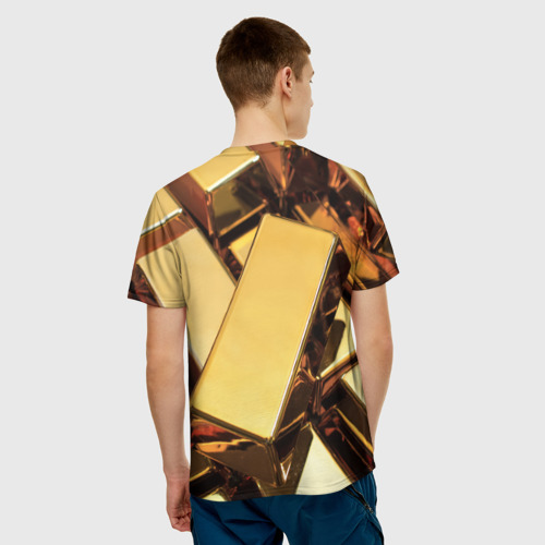 Мужская футболка 3D  Фото 02, GOLD 999,9