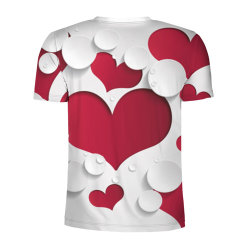 Мужская футболка 3D спортивная  Фото 02, Сердца 3