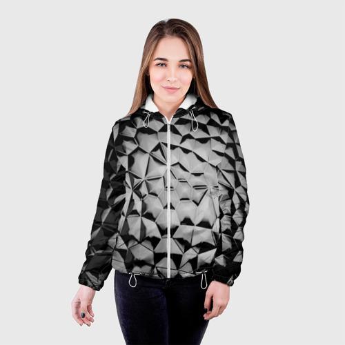Женская куртка 3D  Фото 03, Чёрная мозаика