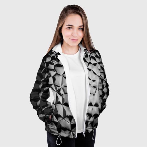 Женская куртка 3D  Фото 04, Чёрная мозаика