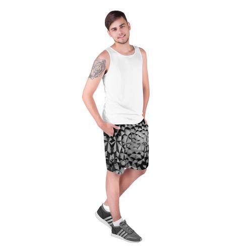 Мужские шорты 3D  Фото 03, Чёрная мозаика