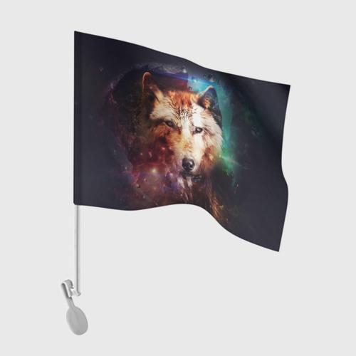 Флаг для автомобиля Волк Фото 01