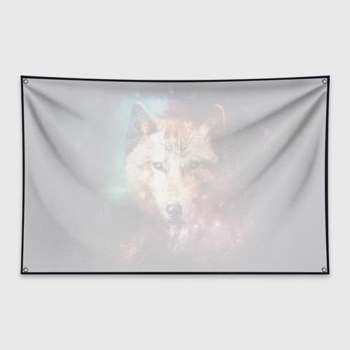 Флаг-баннер Волк Фото 01