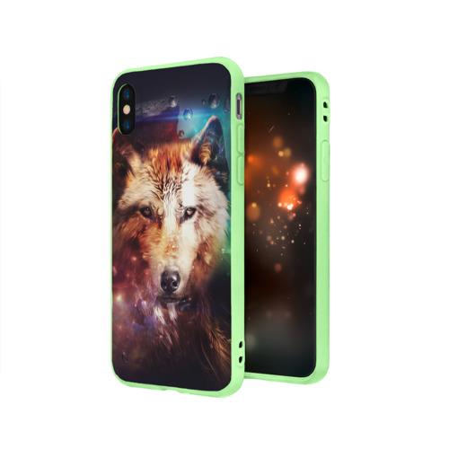 Чехол для iPhone X матовый Волк Фото 01