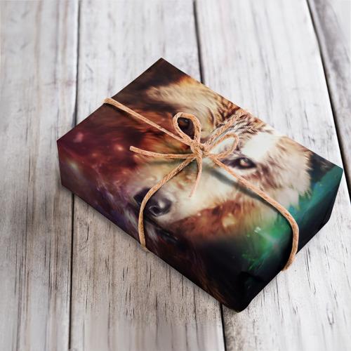 Бумага для упаковки 3D Волк Фото 01