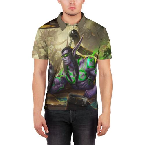 Мужская рубашка поло 3D World of Warcraft