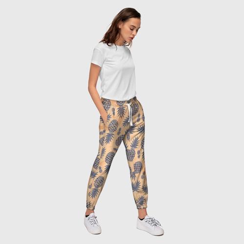 Женские брюки 3D Ананасы 1 Фото 01