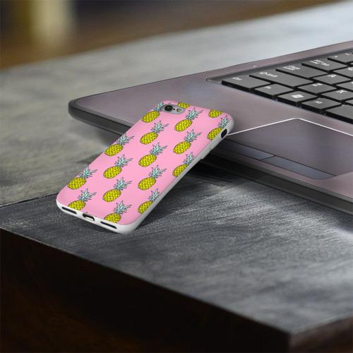 Чехол для Apple iPhone 8 силиконовый глянцевый  Фото 03, Ананасы 2
