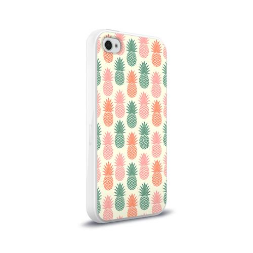 Чехол для Apple iPhone 4/4S силиконовый глянцевый  Фото 02, Ананасы 4