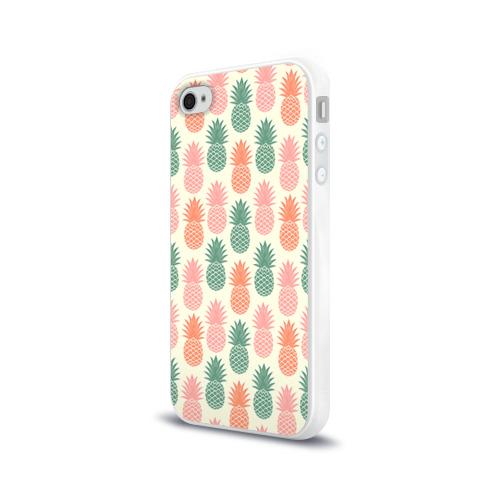 Чехол для Apple iPhone 4/4S силиконовый глянцевый  Фото 03, Ананасы 4
