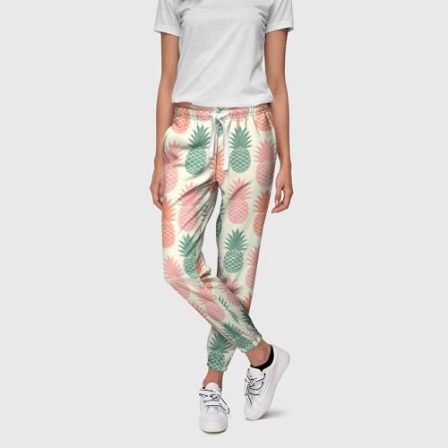 Женские брюки 3D Ананасы 4 Фото 01
