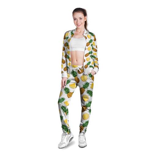 Женская олимпийка 3D Ананасы 6