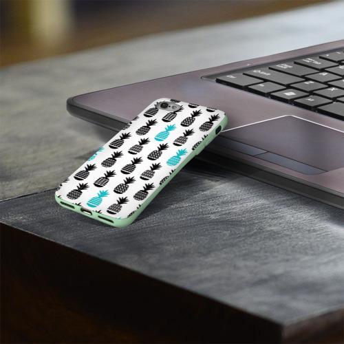 Чехол для Apple iPhone 8 силиконовый глянцевый Ананасы 7 Фото 01