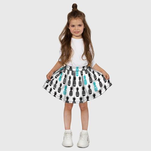 Детская юбка-солнце 3D Ананасы 7 Фото 01