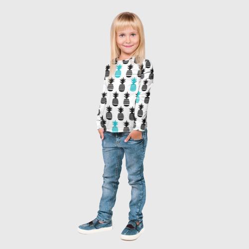 Детский лонгслив 3D Ананасы 7 Фото 01