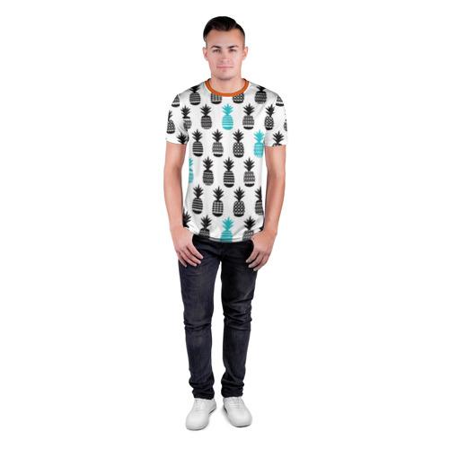Мужская футболка 3D спортивная Ананасы 7 Фото 01
