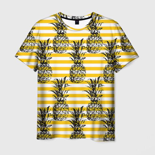 Мужская футболка 3D  Фото 03, Ананасы 9