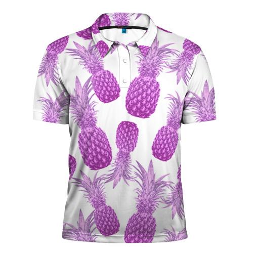 Мужская рубашка поло 3D  Фото 01, Ананасы 14