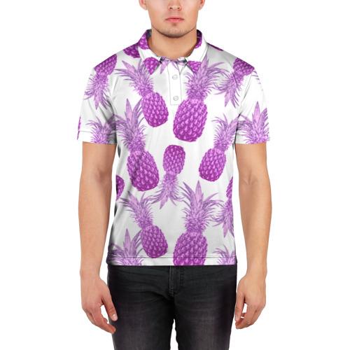 Мужская рубашка поло 3D  Фото 03, Ананасы 14