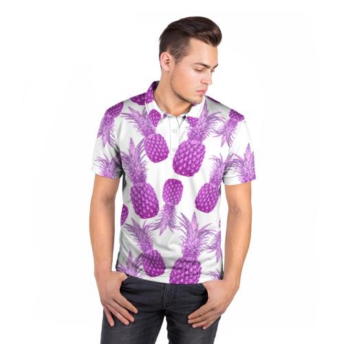 Мужская рубашка поло 3D  Фото 05, Ананасы 14