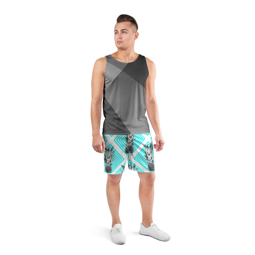 Мужские шорты 3D спортивные  Фото 04, Ананасы 15
