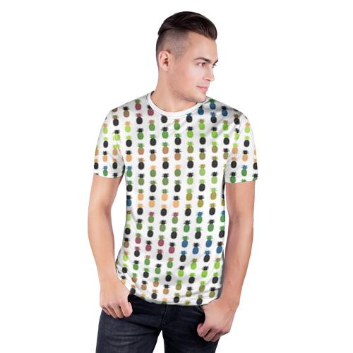 Мужская футболка 3D спортивная  Фото 03, Ананасы 25