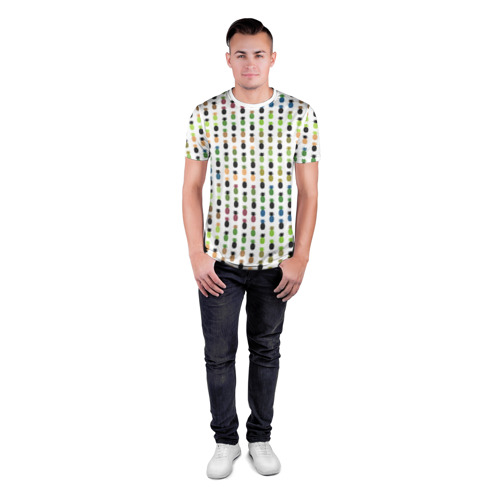 Мужская футболка 3D спортивная  Фото 04, Ананасы 25