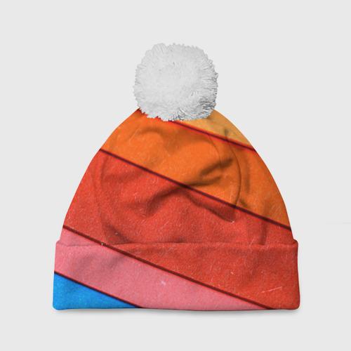 Шапка 3D c помпоном  Фото 01, Paper color