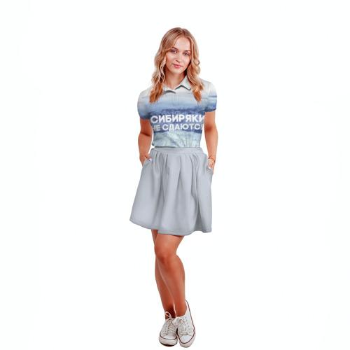 Женская рубашка поло 3D  Фото 04, Сибирь