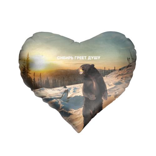 Подушка 3D сердце  Фото 01, Сибирь