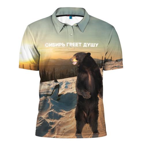 Мужская рубашка поло 3D Сибирь