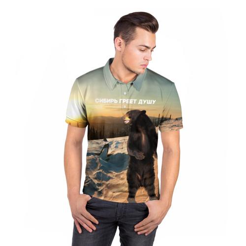 Мужская рубашка поло 3D  Фото 05, Сибирь