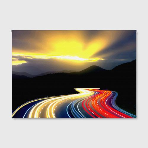 Холст прямоугольный  Фото 02, Ночная дорога