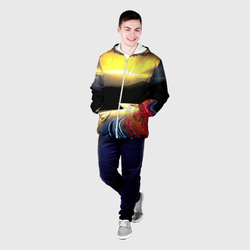 Мужская куртка 3D  Фото 03, Ночная дорога